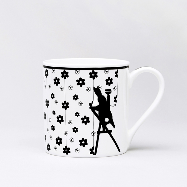 Trinktasse 'Wallpapering Rabbit'