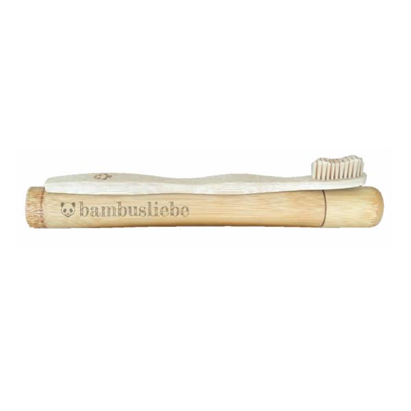 Bambus Zahnbürsten Reiseetui