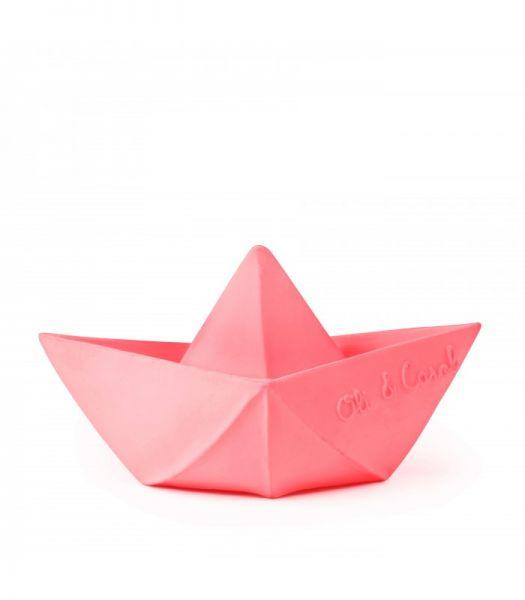 Badespielzeug 'Origami Boot Pink'