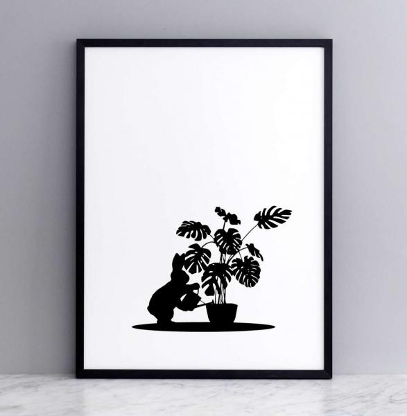 Bild 'Watering Rabbit' 30x40 cm