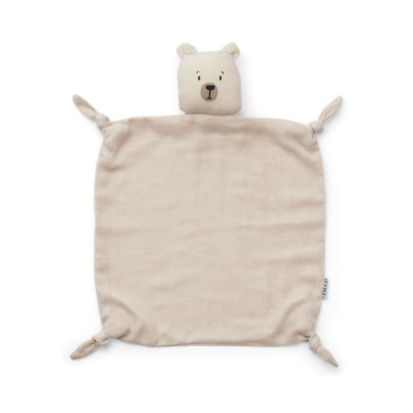 Schmusetuch 'Agnete Cuddle Cloth Polar Bear sandy'