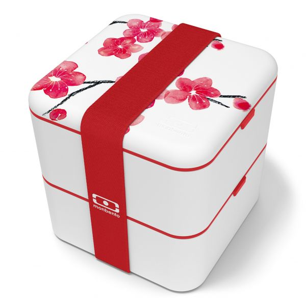Bentobox / Lunchbox 'Square graphic Blossom'
