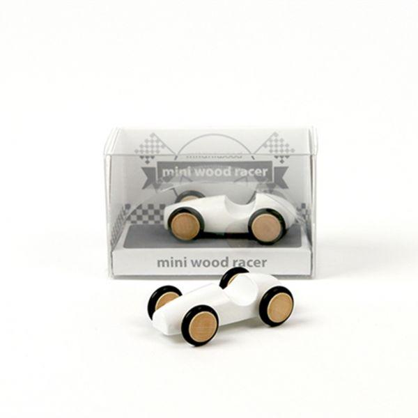 Holzauto 'Mini Wood Racer' - weiß