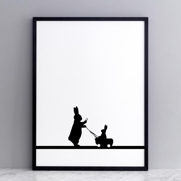 Bild 'Insta Baby Rabbit' 30x40 cm