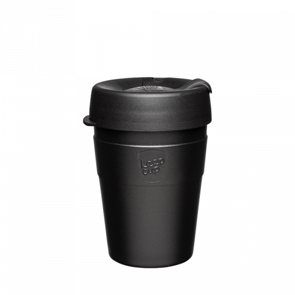 """Coffee-to-go Becher """"Thermal 12OZ (340ml) - Black"""""""