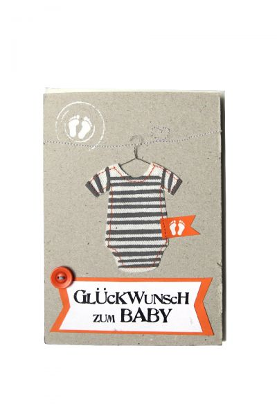 """Karte """"Kleines Glück - Glückwunsch zum Baby"""""""