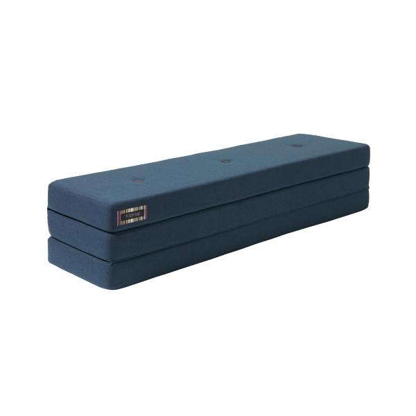Klapp-Matratze 'KK 3 Fold XL' (200 cm) - Dark Blue / Black