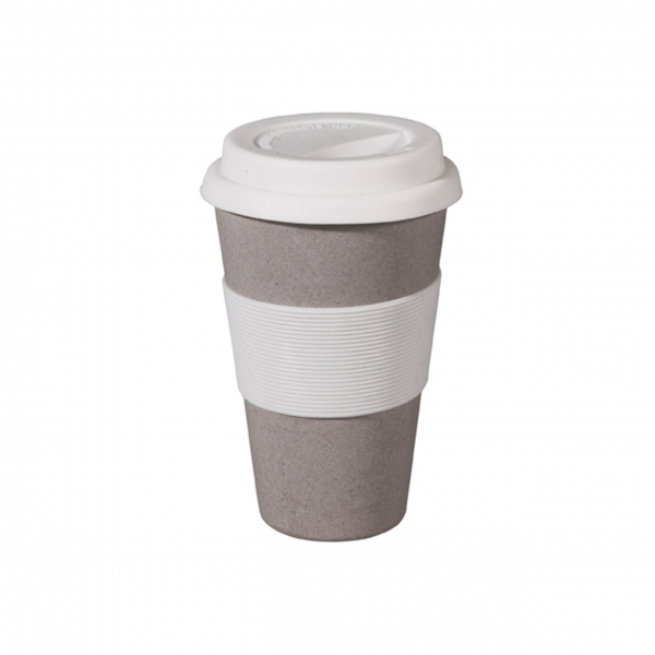 "Coffee To-Go Bambusbecher ""Cruising Travel"" - Stone Grey"