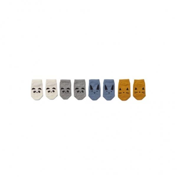 Babysocken 'Fanny - Blue mix' 4er-Pack (0-6m)
