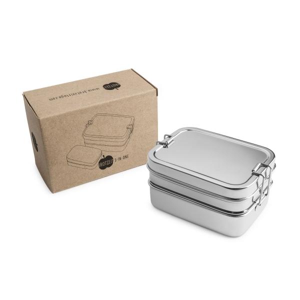 Lunchbox 3in1 aus Edelstahl