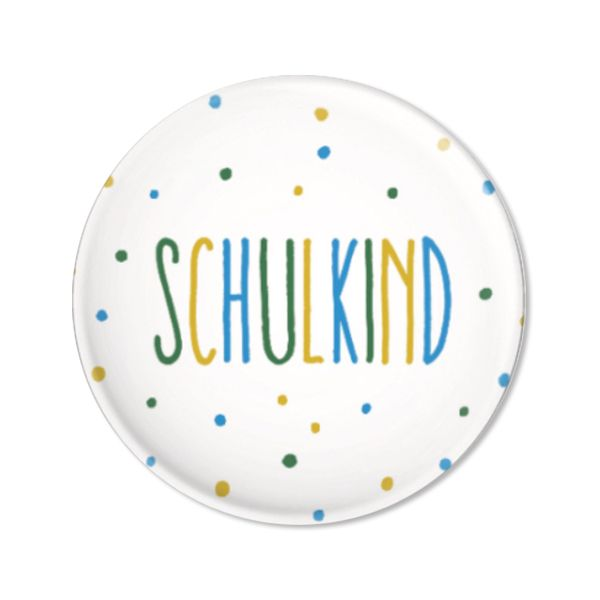 Button Schulkind, Konfetti blau