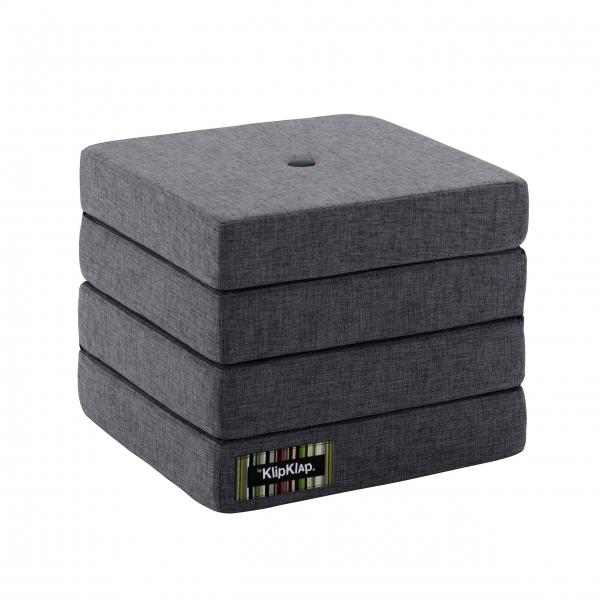 Multifunktionaler Pouf 'KK 4 Fold' - Blue Grey / Grey