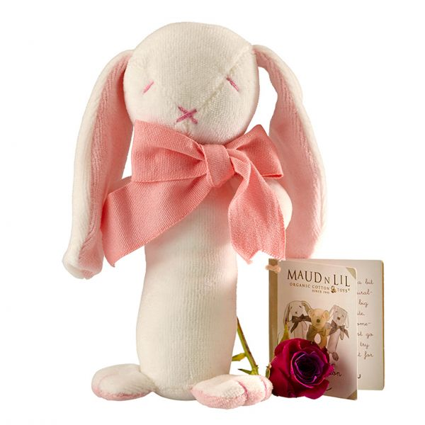Baby-Stabrassel Hase 'Rose' - rosa