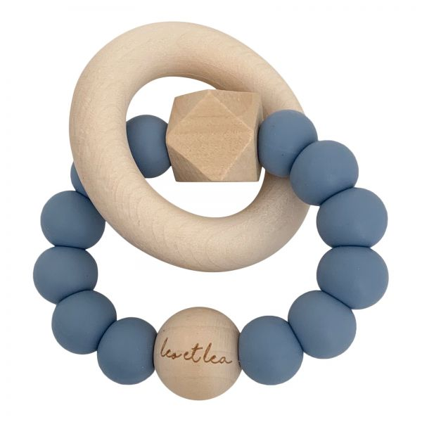 Beißring 'Hexa Baby Teether - Dusty Blue'