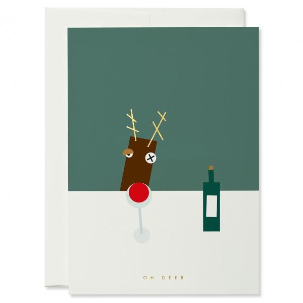 Grußkarte 'Mry Xms - Oh Deer'