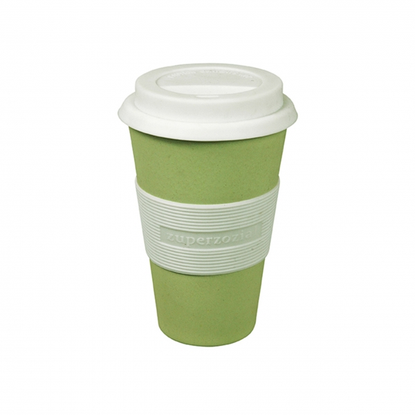 Coffee To-Go Becher 'Cruising Travel' - Willow Green