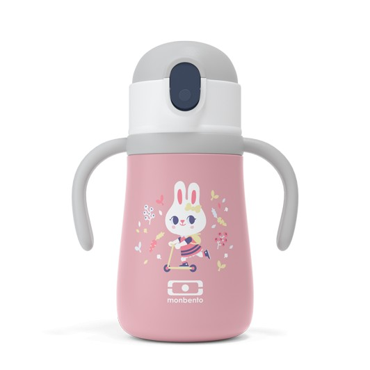 """Isotherme - Trinkflasche """"MB Stram rosa Bunny"""""""