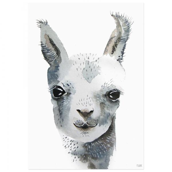 Wandbild – Lama in DIN A4