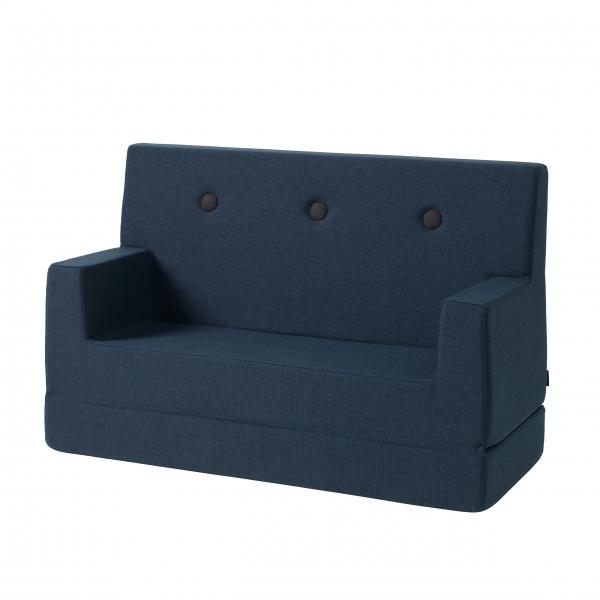 Kindersofa 'KK Kids Sofa' - Dark Blue / Black