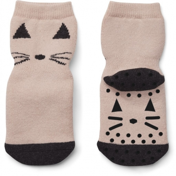 "Anti-Rutschsocken ""Nellie - Cat rose"" – 1 Paar"