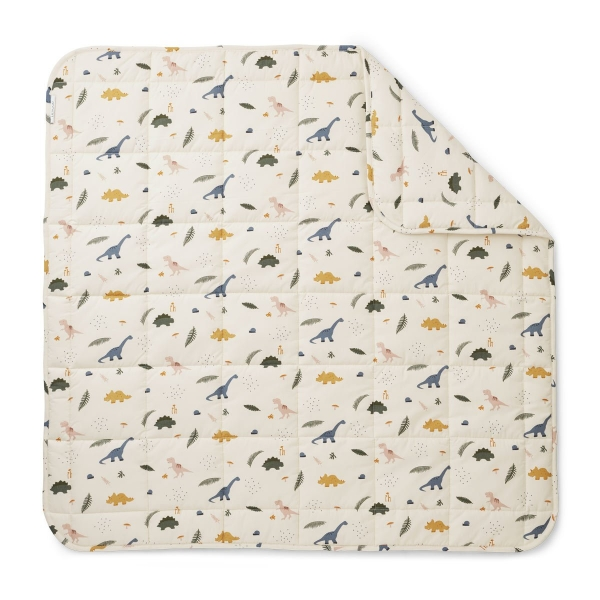 Baby Decke 'Ebbe quilted blanket - Dino Mix'