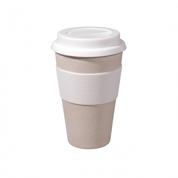Coffee To-Go Becher 'Cruising Travel' - Coconut White