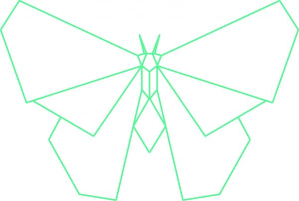 Nagelbild S - Schmetterling