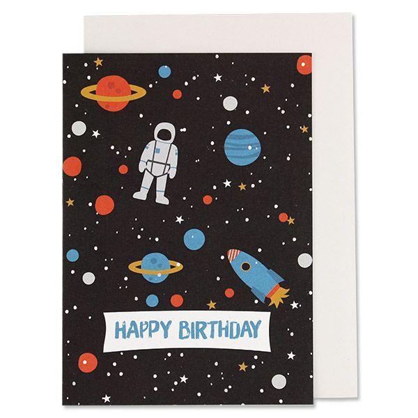"Geburtstagskarte ""Happy Birthday"" Space"