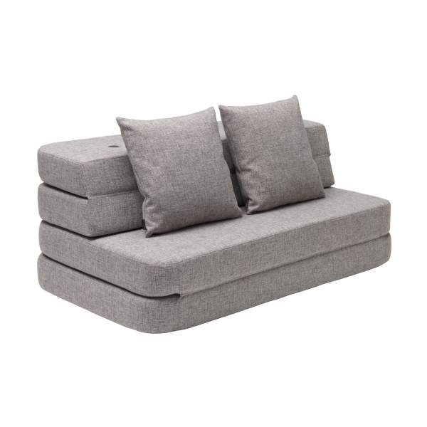 Klapp-Sofa 'KK 3 Fold Sofa XL soft' (140 cm) - Multi Grey / Grey