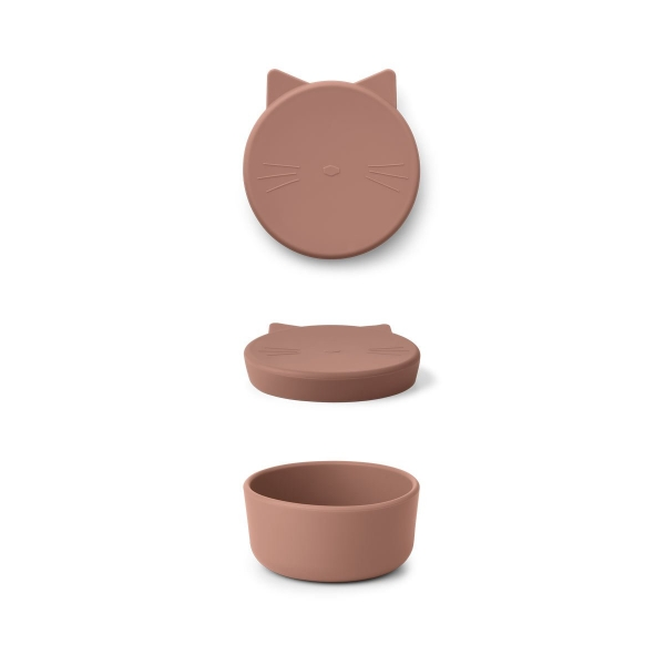 "Silikon Snack Box ""Cornelius - Cat dark rose"""