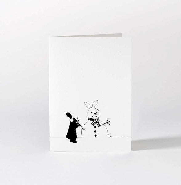 Grußkarte 'Snowman Rabbit'