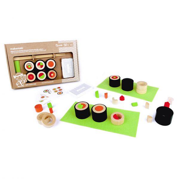 Geschicklichkeitksspiel 'Makemaki / Sushi' aus Holz