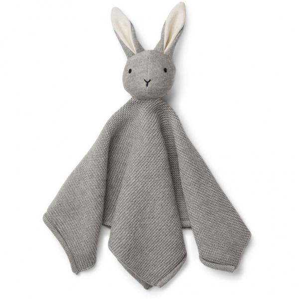 Strick-Schmusetuch 'Milo - Rabbit grey melange'