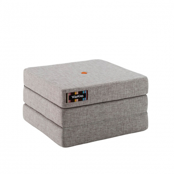 "Multifunktionaler Pouf ""KK 3 Fold single"" - Multi Grey / Orange"