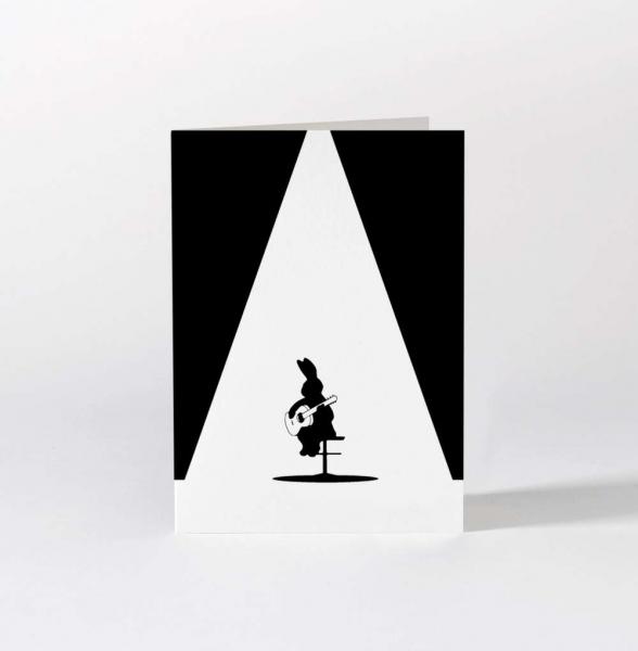 "Grußkarte ""Guitar Rabbit"""