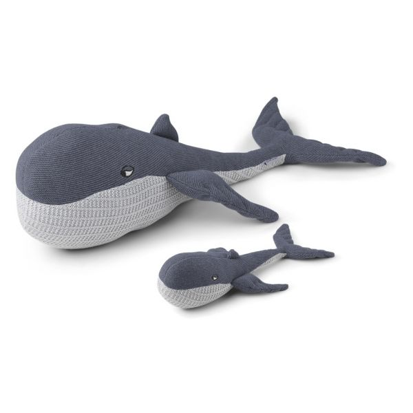 "Kuscheltier ""Doby with Baby - Whale Blue Wave"""
