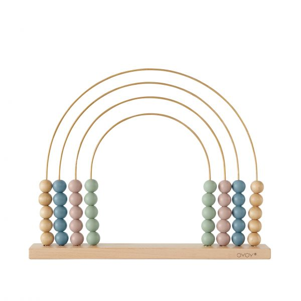 Abacus für Kinder 'Rainbow' - Messing & Holz