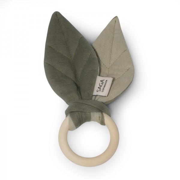 Beißring / Teething Ring 'Blaoa' - Olive / Green Tea