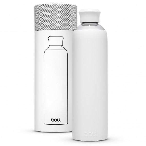 Trinkflasche 1L Glas - White