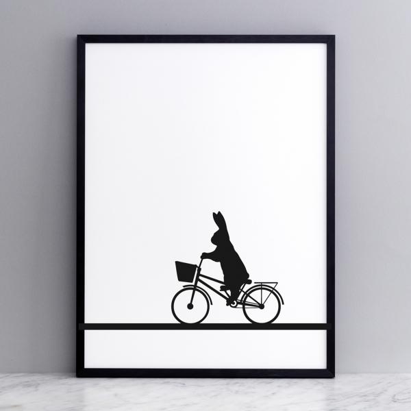Bild 'City Bike Rabbit' 30x40 cm