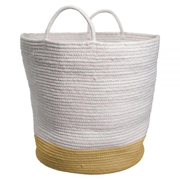 Aufbewahrungskorb Large 'Rope Basket - Ochre'