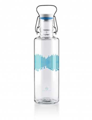 Trinkflasche aus Glas 0,6l - Water is the Human Right