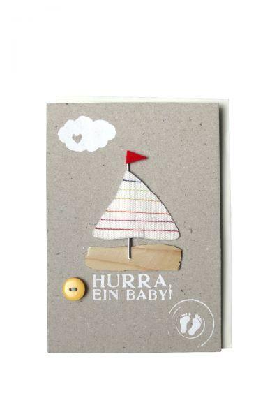"""Karte """"Kleines Glück - Hurra. ein Baby"""""""