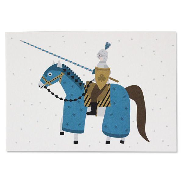 Postkarte Ritter
