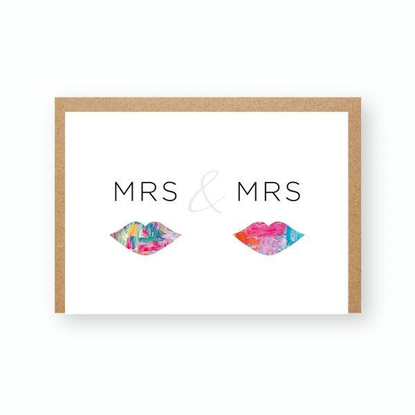 "Grußkarte ""Mrs & Mrs"""