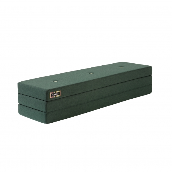 Klapp-Matratze 'KK 3 Fold XL' (200 cm) - Deep Green / Light Green