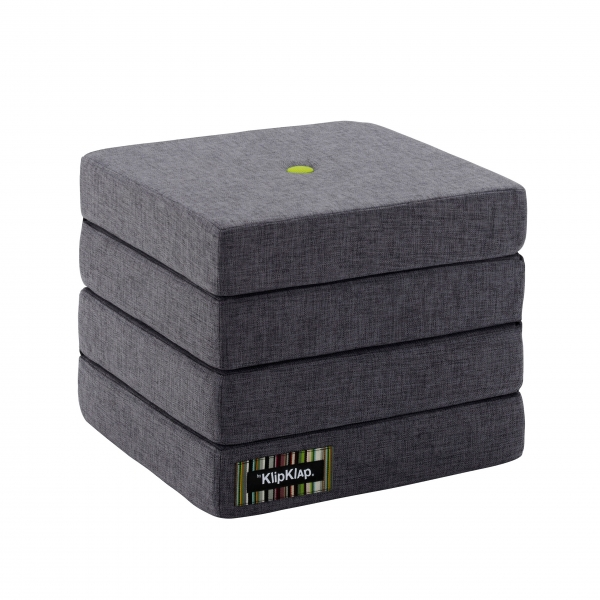 Multifunktionaler Pouf 'KK 4 Fold' - Blue Grey / Green