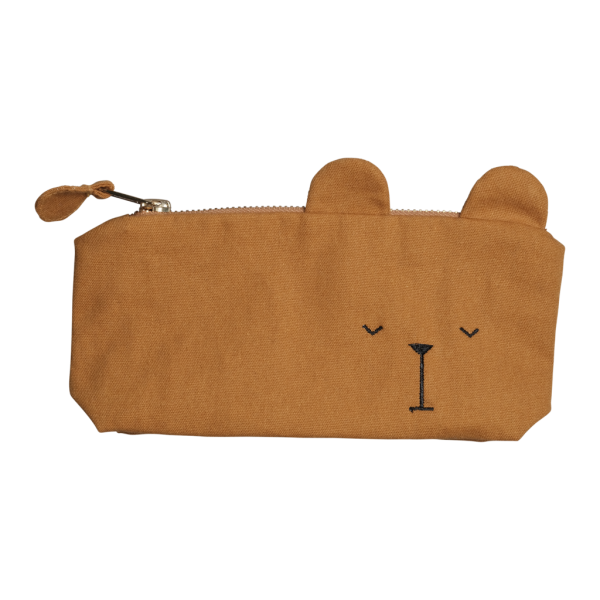 Federmäppchen 'Lazy Bear' - ocker
