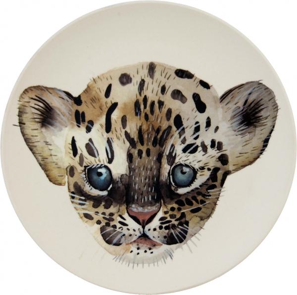 Bambus Kinderteller - Leopard