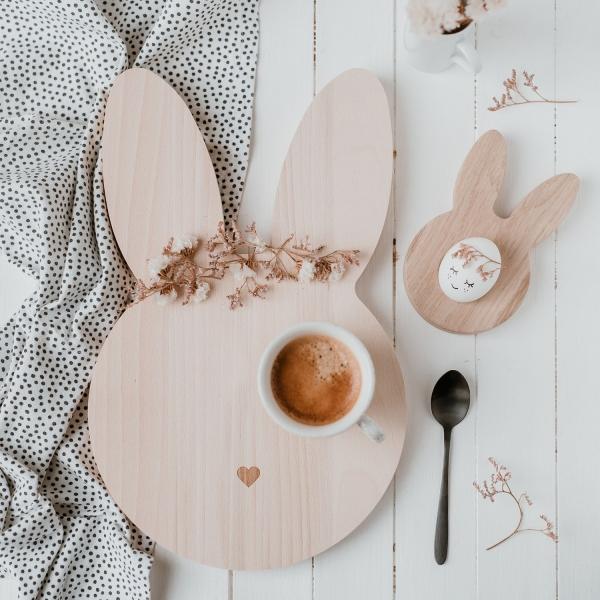 Frühstücksbrettchen Hase